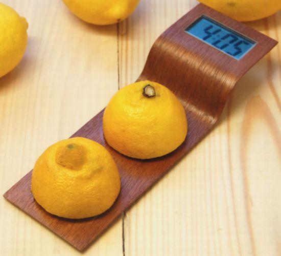 Citrus: l'orologio che si alimenta con il limone