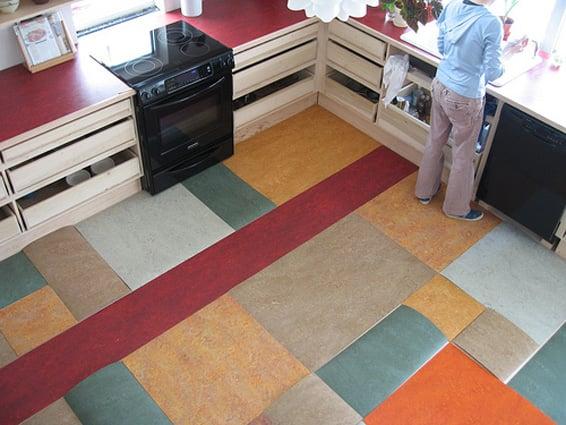 pavimento linoleum
