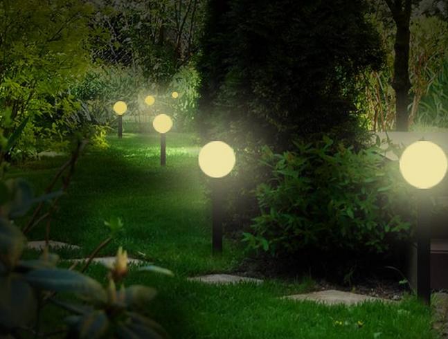 Illuminazione da giardino globo: lumi da giardino lampioni da
