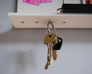 mensola porta chiavi