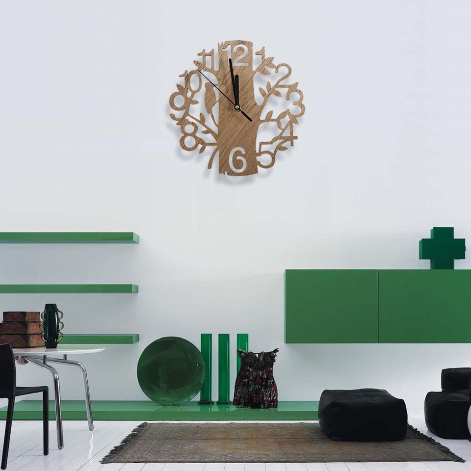 orologio-parete-verde