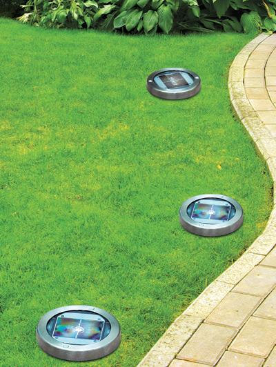 Luci led sentiero giardino ad energia solare - Lampade solari da giardino ...