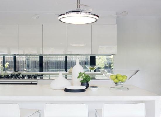 Lampadario ventilatore moderno