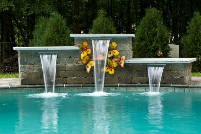 Galleria foto - Idee e consigli fontane e cascate per la piscina Foto 1