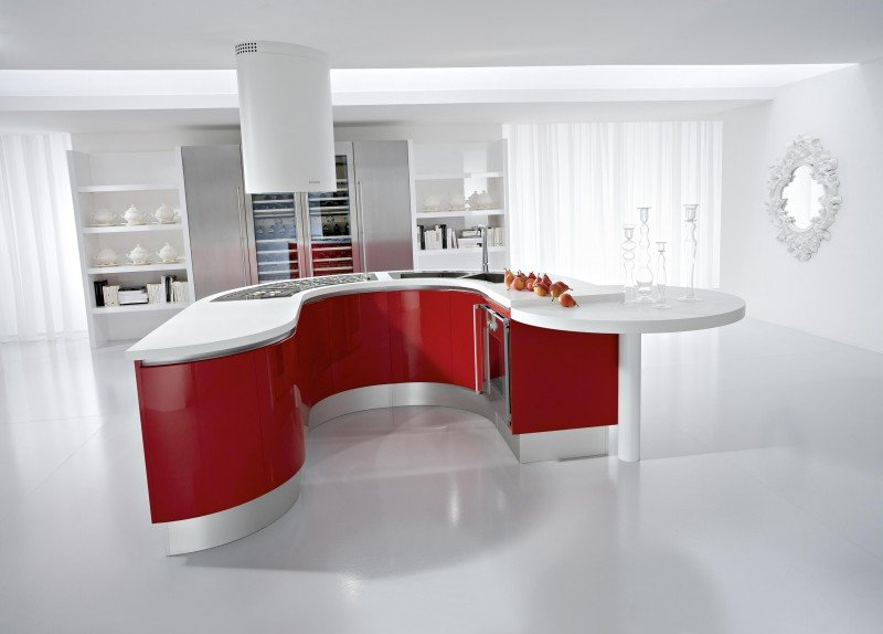 cucina-bianca-rossa
