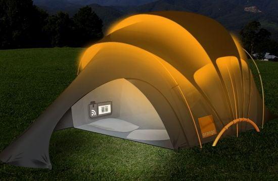 tenda solare campeggio