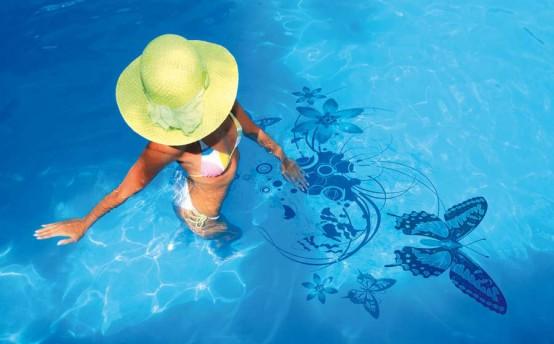 Decorazioni adesive per piscine