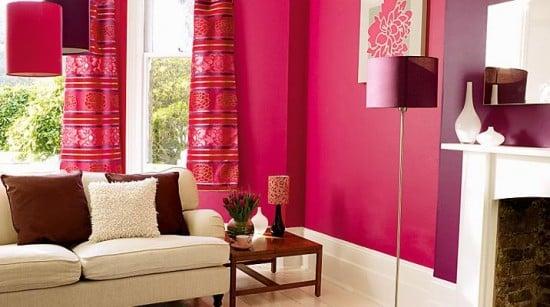 pareti rosa soggiorno