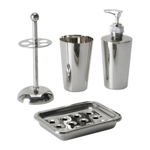 set bagno in acciaio