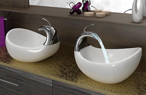 Lavabo bagno piccolo moderno