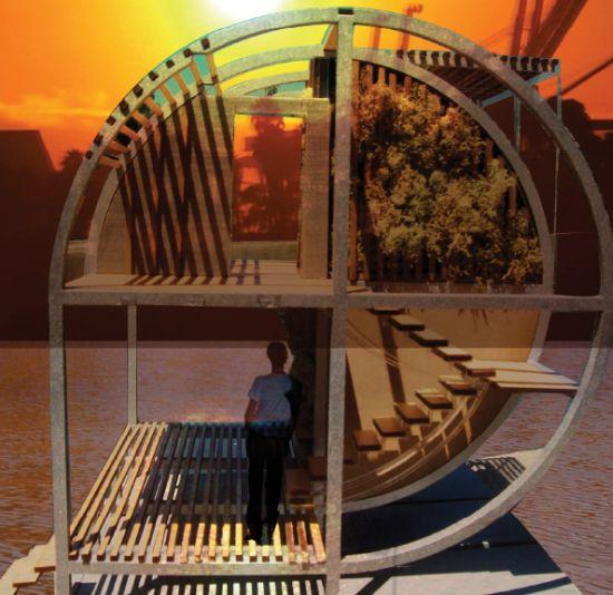Casa ecologica galleggiante for Casa ecosostenibile prefabbricata