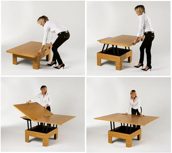 Tavolino trasformabile in tavolo