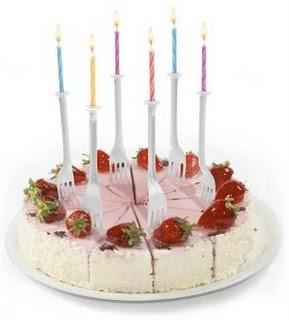 candeline di compleanno forchette