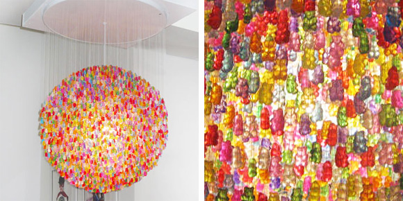 Galleria foto - Lampadario di caramelle gommose Foto 1