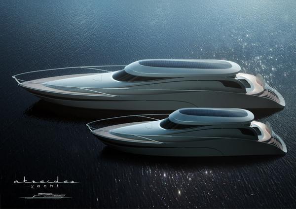 Yacht di lusso con piscina a scomparsa