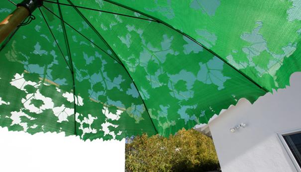 Galleria foto - Ombrellone da giardino verde Foto 1