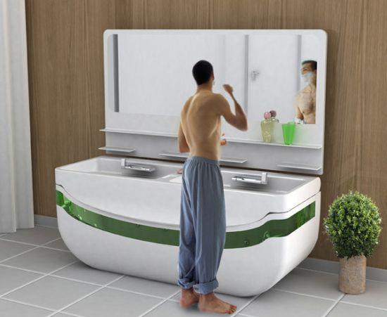 lavabo con vasca da bagno