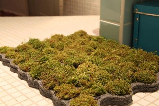 tappeto con erba reale