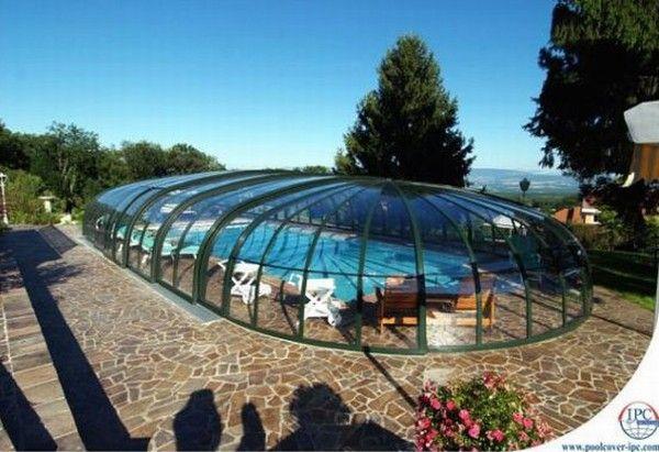 copertura piscina design