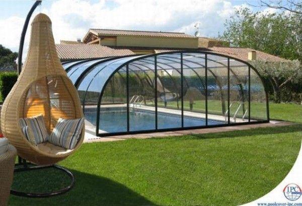 copertura piscina in vetro