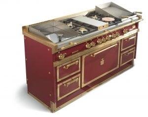 Cucine di metallo in pieno stile