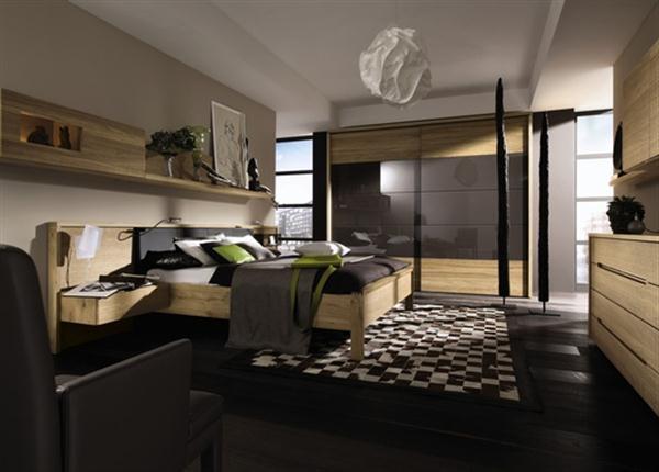 camera da letto legno faggio e rovere