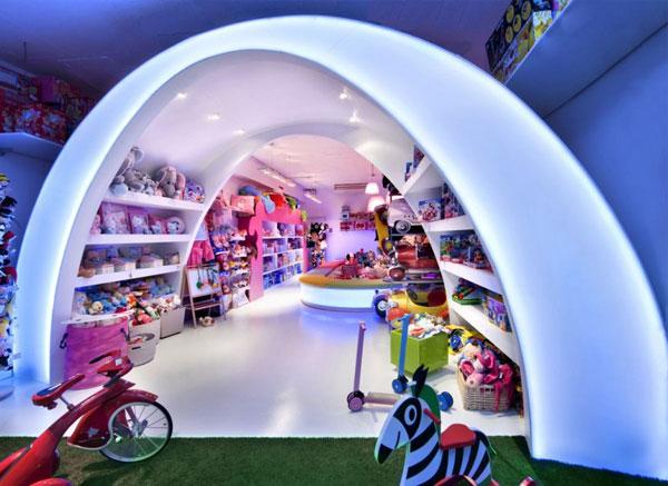 negozio giocattoli arredo