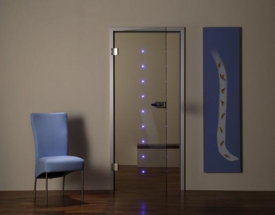 porta led con vetro