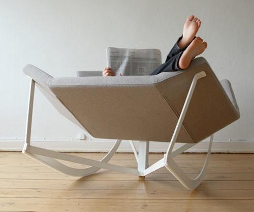 sedia a dondolo moderna