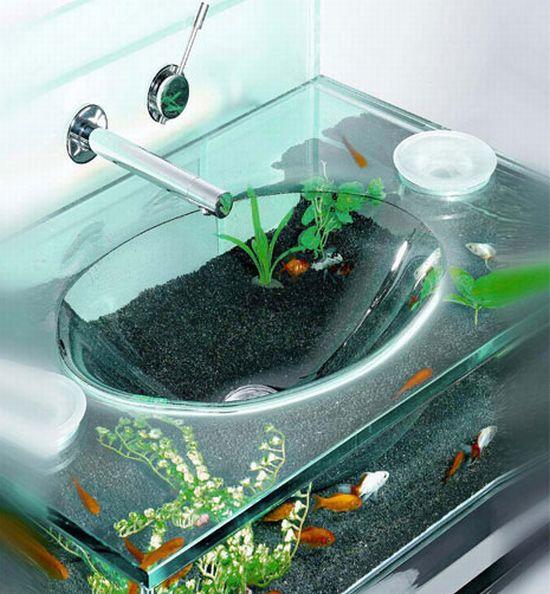 Lavabo acquario for Acquario arredamento