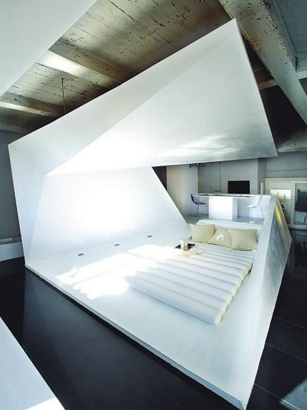 Case futuristiche: appartamento tridimensionale