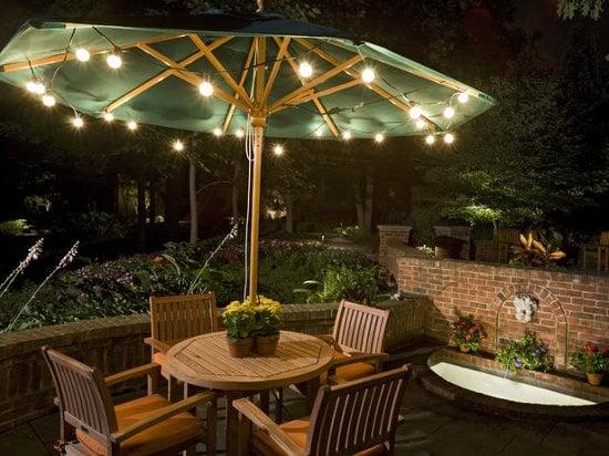 illuminare un tavolo in terrazzo