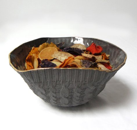 insalatiera in ceramica nera