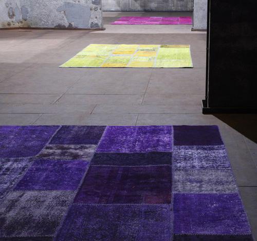 tappeto viola moderno