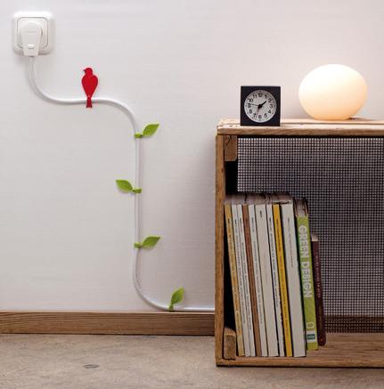 fissare fili al muro
