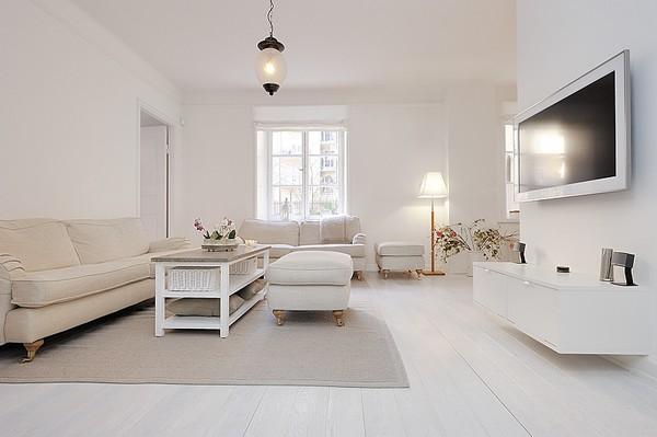 Total white come arredare casa solo col bianco esempi idee ...