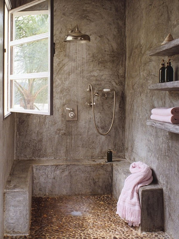 doccia rustica in pietra