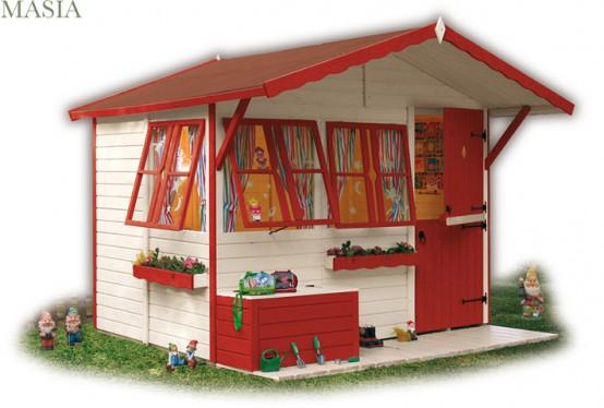 casetta bambini legno