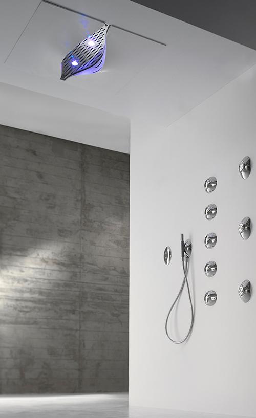 soffione doccia cascata