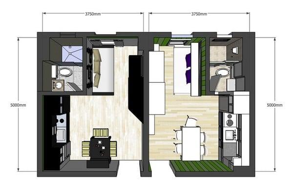 Appartamento 20 mq idee arredo - Casa ikea 50 mq ...