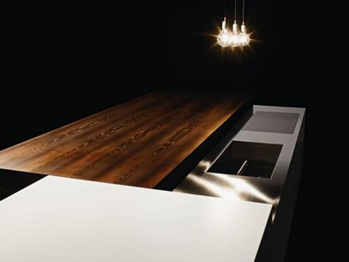 cucina piano da lavoro e tavolo
