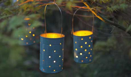 Lanterne Da Giardino Fai Da Te : Realizzare lanterne con barattoli di latta
