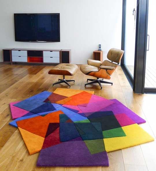 tappeto moderno colorato