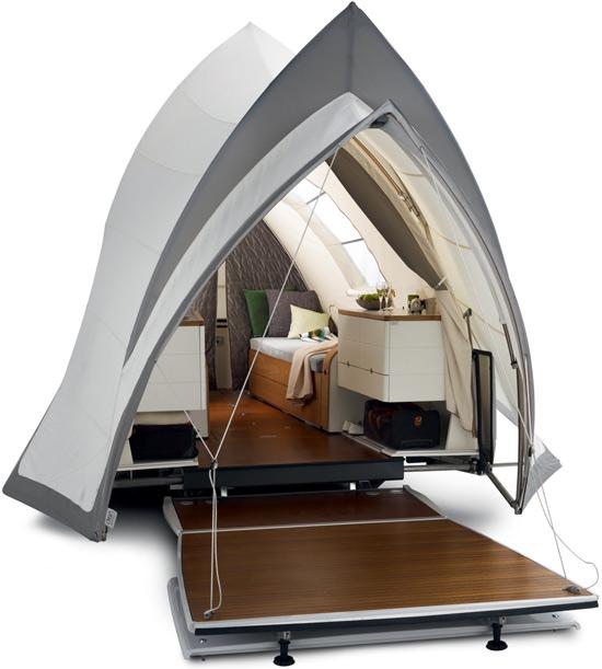 tenda da campeggio moderna