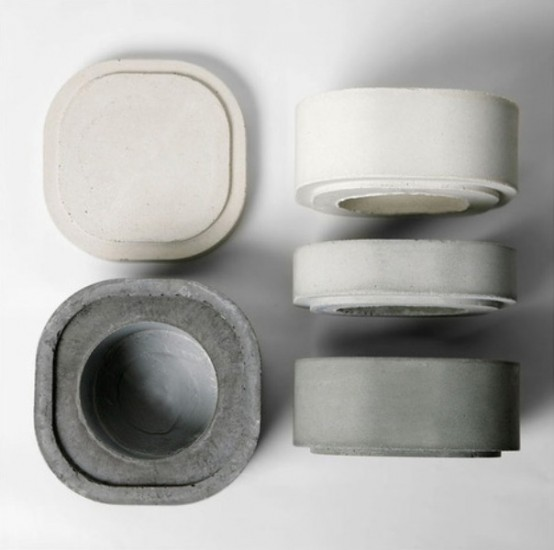 vasi minimal in cemento