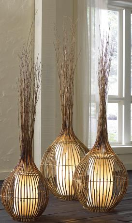 lampade bamboo