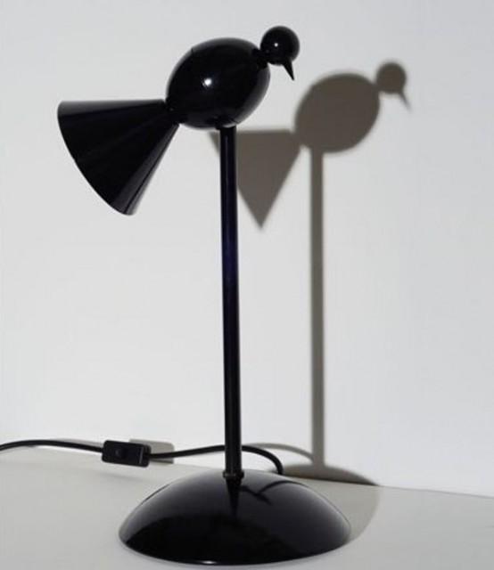 lampade con uccelli