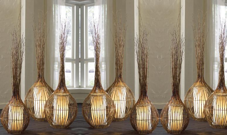 Lampadario Carta Di Riso : Lampade naturali in bamboo
