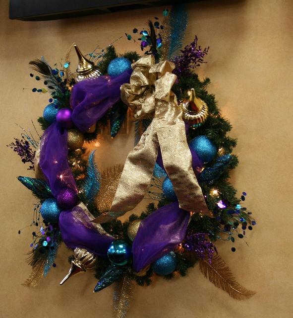 addobbi natalizi blue e viola