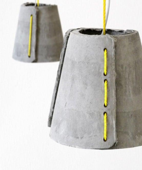 lampadario in cemento